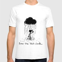 Turn that cloud, upside down! Mens Fitted Tee White SMALL