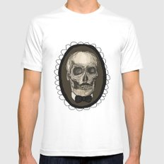 Dapper Skull  Mens Fitted Tee White SMALL