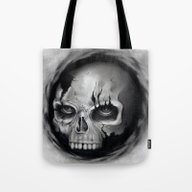 Tote Bag featuring Skull by Puddingshades