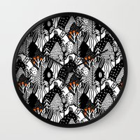 In the forest_B&W Wall Clock