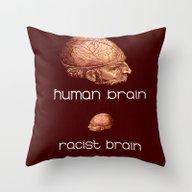 Throw Pillow featuring Human Brain  by Ganech Joe