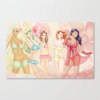 Lingerie Girls Canvas Print