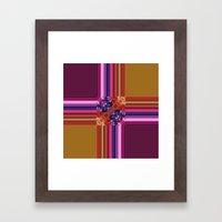 Purplish-Red And Gold Co… Framed Art Print