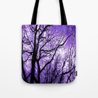 The Trees Know (purple) Tote Bag