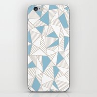 Ab Nude Lines with Blue Blocks iPhone & iPod Skin