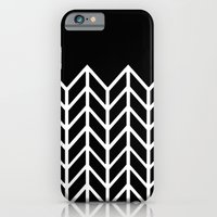 iPhone & iPod Case featuring BLACK LACE CHEVRON by natalie sales