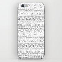 Grey aztec pattern iPhone & iPod Skin