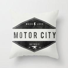 Motor City   Much Love Throw Pillow