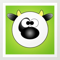 Moo Moo Cow Ball Art Print