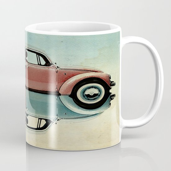 checkered bug - VW beetle Mug