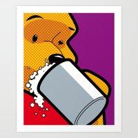 The secret Life of Heroes - Winnie Beer Art Print