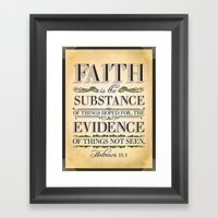 The Substance Of Things … Framed Art Print