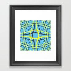 Checkered night Framed Art Print