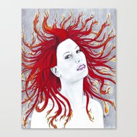 Rhapsody in Flames Canvas Print