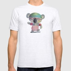Swimming Time Mens Fitted Tee Ash Grey SMALL