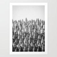 Federwald (monochrome Se… Art Print