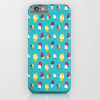Ice cream pattern - blue iPhone 6 Slim Case