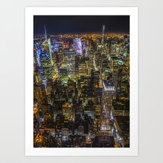 Colours of the City Art Print