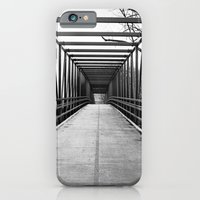 iPhone & iPod Case featuring Bridge to Nowhere Black and White Photography by ginaphoto