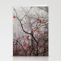 Forest Of Red Stationery Cards