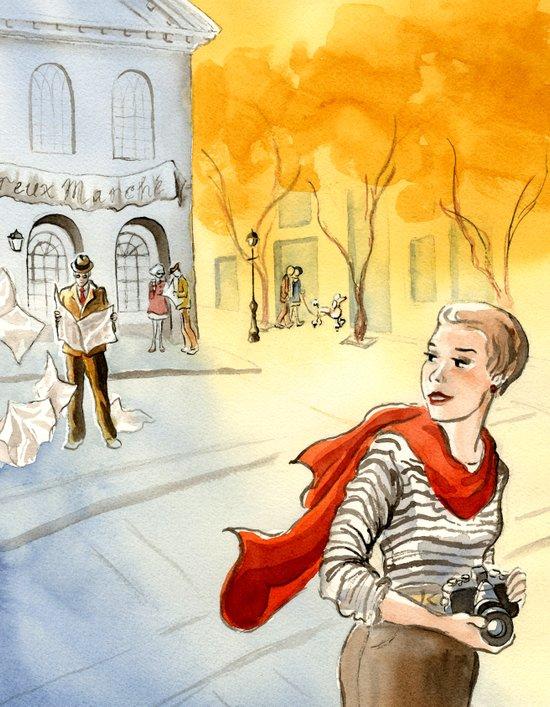 France comes to Salem, cover Art Print