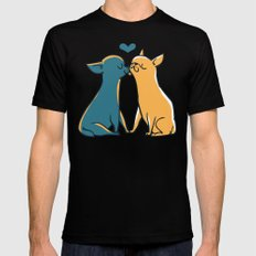 Chihuahua Kisses SMALL Mens Fitted Tee Black