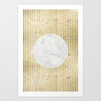 inverse gOld sun Art Print