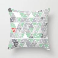 Plumbobs, Triforces Or C… Throw Pillow