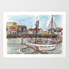 The Harbour, Figueira Da Foz, Portugal Art Print