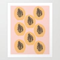 Papaya Print Art Print