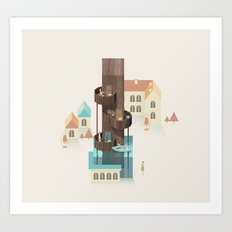Resort Type - Letter I Art Print