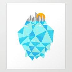 Floating Cities Art Print