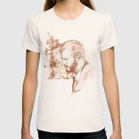 Bon Iver (Justin Vernon) Womens Fitted Tee Natural SMALL
