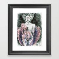 Stripper Figure Study Framed Art Print