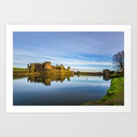 Caerphilly Castle Long Exposure 2 Art Print