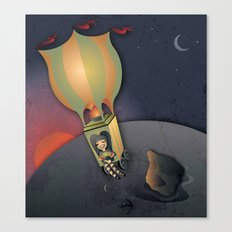Flying away with the Circus Canvas Print
