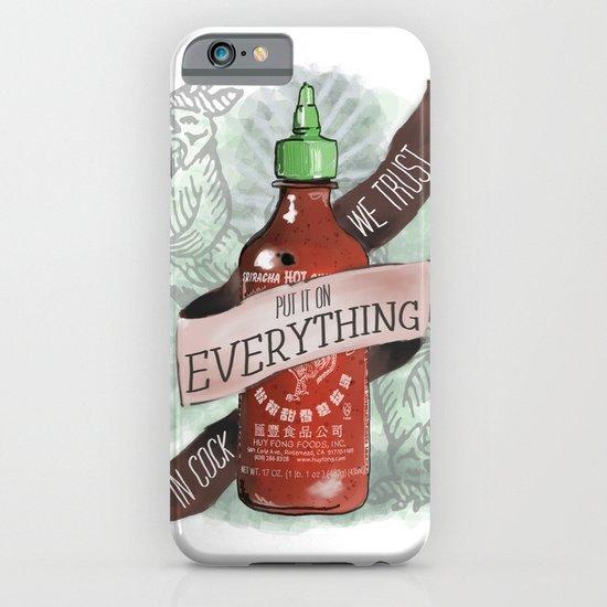 An Ode To Sriracha iPhone & iPod Case