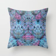 Crochet Me A Fractal Throw Pillow
