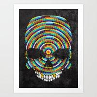 Hypnotic Skull Art Print