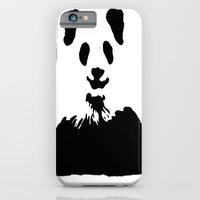 Pandas Blend into White Backgrounds iPhone 6 Slim Case