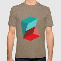 Prisms Mens Fitted Tee Tri-Coffee SMALL