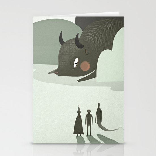 so they went to where the buffalos roamed. Stationery Card