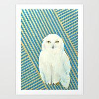 Chester The Owl Art Print