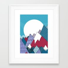 Blue Sky Mountains Framed Art Print