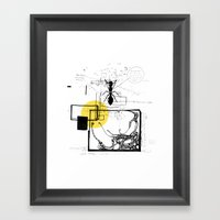 Ant In His Universe Framed Art Print