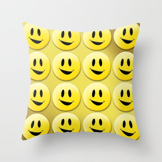 Smiley Smileys! Throw Pillow