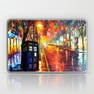 Laptop & iPad Skin featuring Tardis Full Color by Aleha