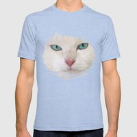 WHITE DELIGHT Mens Fitted Tee Tri-Blue SMALL