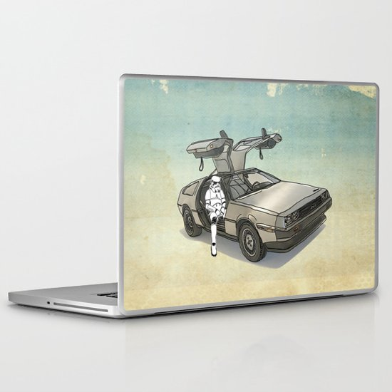 Stormtrooper in a DeLorean - waiting for the car club Laptop & iPad Skin