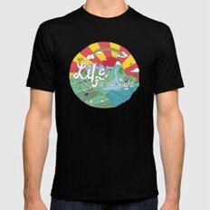 Life is All Right (Color) Mens Fitted Tee Black SMALL